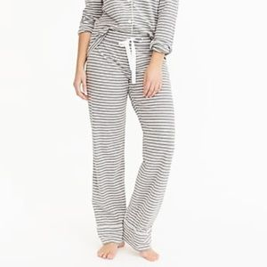 J crew dreamy cotton pajama pants stripe heather